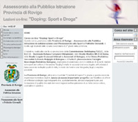 corso on line doping: sport e droga - 2005